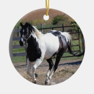 Horse/Paint Pinto Ceramic Ornament