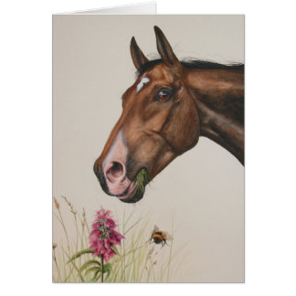 Horse Painted in Watercolour Card