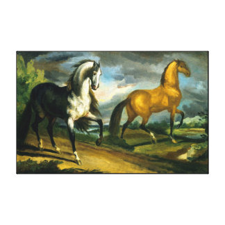 horse  painting 10 stretched canvas prints