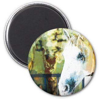 Horse Painting 2 Inch Round Magnet