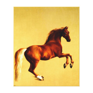 horse  painting 3 stretched canvas print