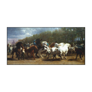 horse  painting 6 canvas print