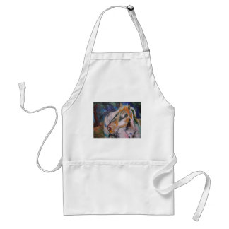 Horse Painting Adult Apron