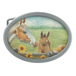 Horse Painting Belt Buckle