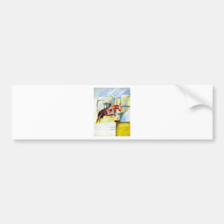 horse painting bumper sticker
