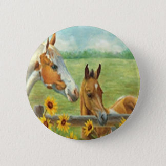 Horse Painting Button