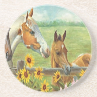 Horse Painting Coaster