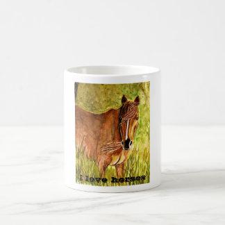horse painting, I love horses Mug