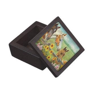 Horse Painting Keepsake Box