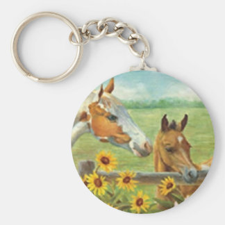 Horse Painting Key Chain