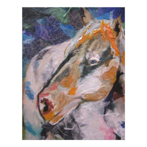 Horse Painting Letterhead Design