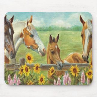 Horse Painting Mouse Pad