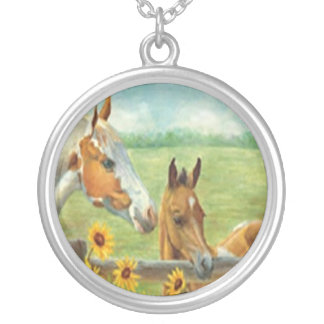 Horse Painting Necklace