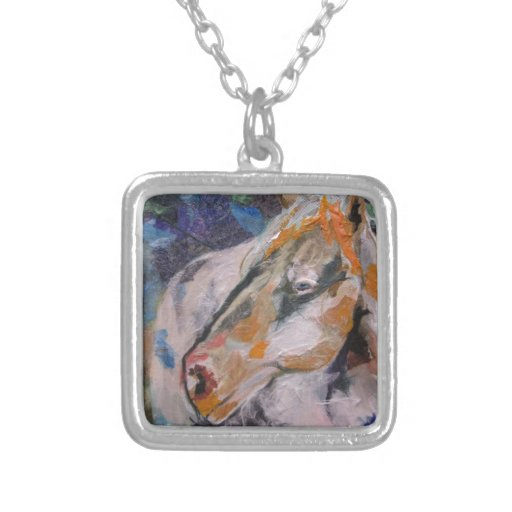 Horse Painting Personalized Necklace