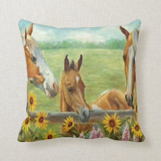 Horse Painting Reversible Pillow