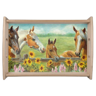 Horse Painting Serving Tray