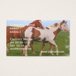 Horse Pair Business Card