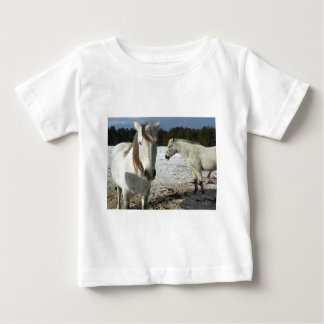 Horse Party Shower Peace Love Whimsical Pattern Tshirts