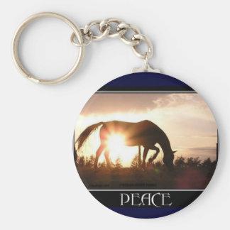 Horse & Peace Keychain
