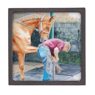 Horse Pedicure Keepsake Box