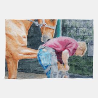 Horse Pedicure Kitchen Towel
