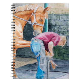Horse Pedicure Spiral Notebook