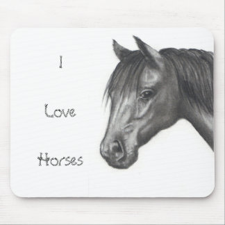 HORSE: PENCIL ART: REALISM MOUSE PAD