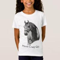 HORSE: PENCIL: HORSE-CRAZY: GIRL T-Shirt