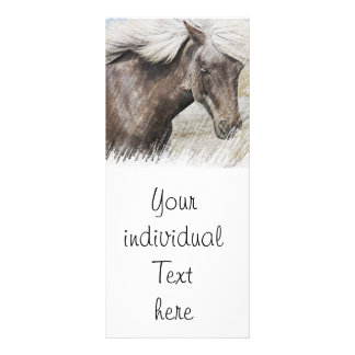 Horse,pencil Personalized Rack Card