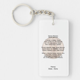 Horse Pennies Pet Memorial Keychain