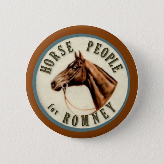Horse People for Romney Button