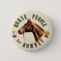 Horse People for Romney Pinback Button