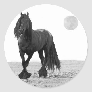 Horse perfect classic round sticker