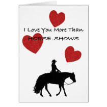 Horse Person Funny Valentine Card