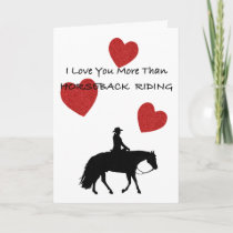 Horse Person Valentine Holiday Card