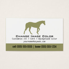 Horse - Personal Business Card at Zazzle
