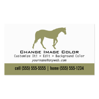 Horse - Personal Business Card