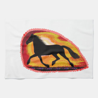 Horse Pet Animal  Add TXT IMG background color Towels