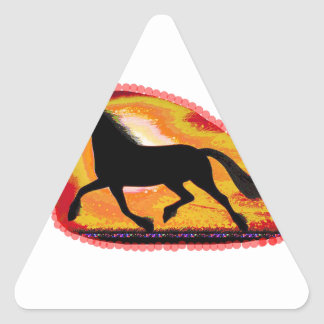 Horse Pet Animal  Add TXT IMG background color Triangle Sticker