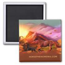 Horse Phenomena Fall Magnet