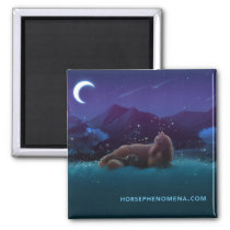 Horse Phenomena Night Magnet