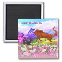 Horse Phenomena Spring Magnet