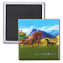 Horse Phenomena Summer Magnet