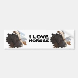 Horse Photo Closeup Car Bumper Sticker