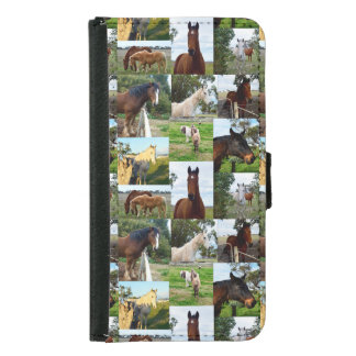 Horse Photo Collage, Galaxy S5 Phone Wallet