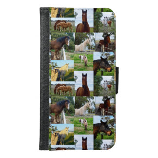 Horse Photo Collage, Galaxy S6 Phone Wallet