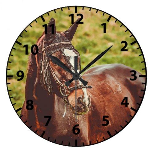 Horse Photo Customizeable Horses Clock
