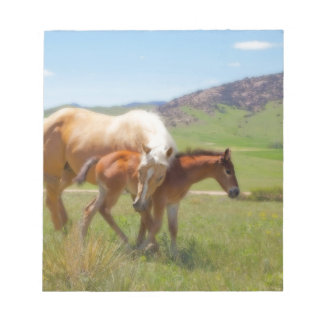 Horse Photo Mare and Foal  Home and Kitchen Decor Notepad