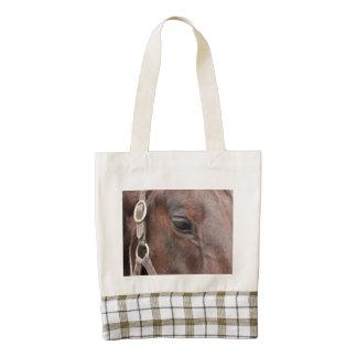 Horse photo zazzle HEART tote bag