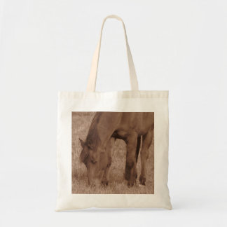 Horse Photograph in Sepia Tote Bag